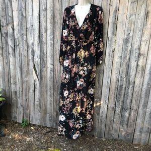 She + Sky floral maxi dress